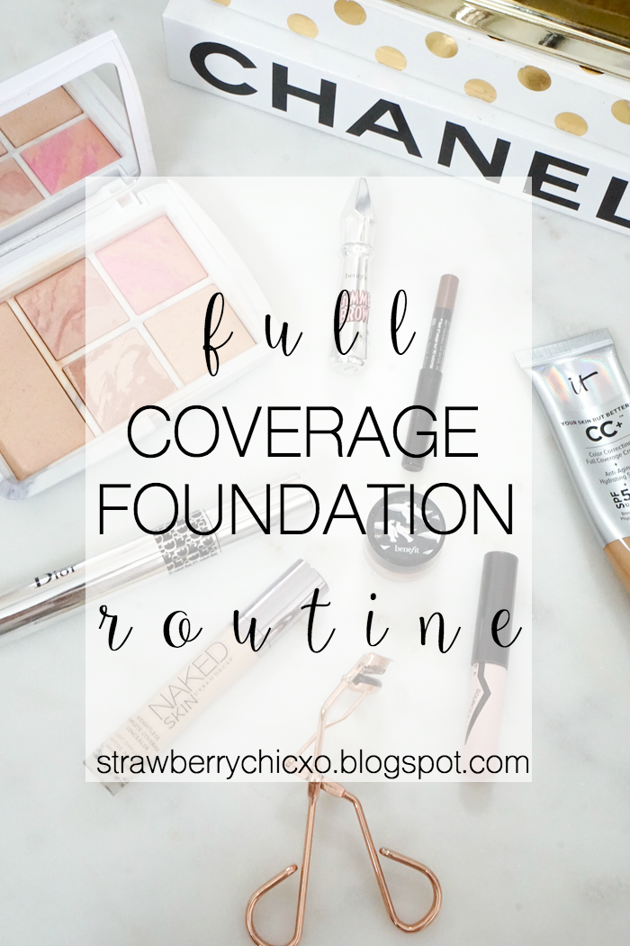 full coverage makeup, photography makeup, makeup routine, strawberry chic