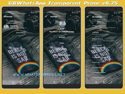 GBWhatsApp Transparent Prime www.whatsappmods.net