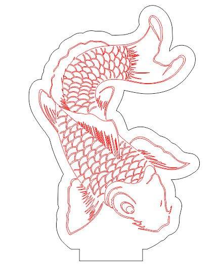 fish led illusion free dxf file