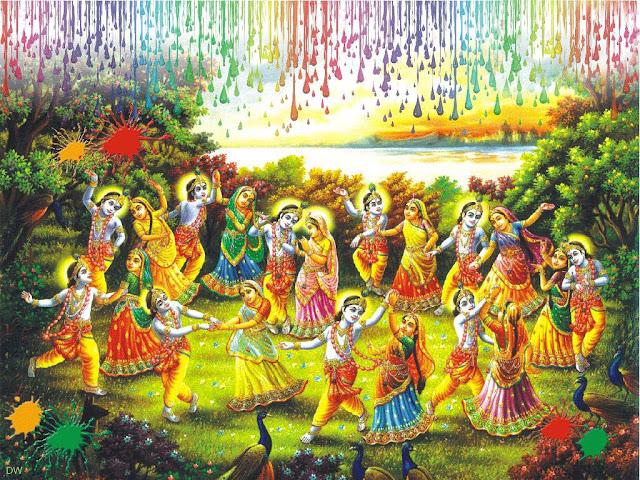 Radha Krishna Holi Picture