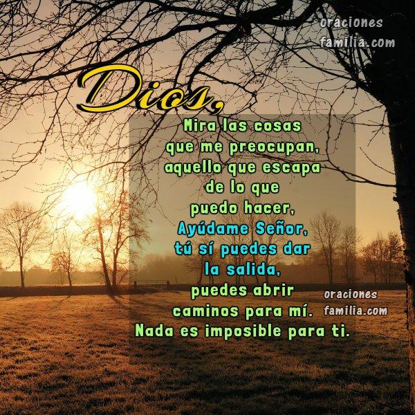 Oraciones para iniciar el día, oración de la mañana, Dios estoy preocupado, ayúdame Señor, frases con oraciones cortas por Mery Bracho en imagen.