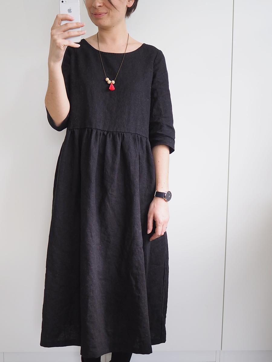 ma robe longue en lin pour mes jolis m mes mais pas que. Black Bedroom Furniture Sets. Home Design Ideas