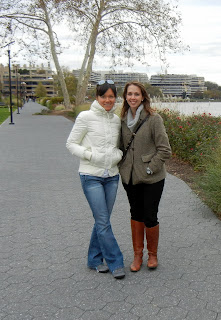 Lisa and I on the Georgetown Potomac riverfront