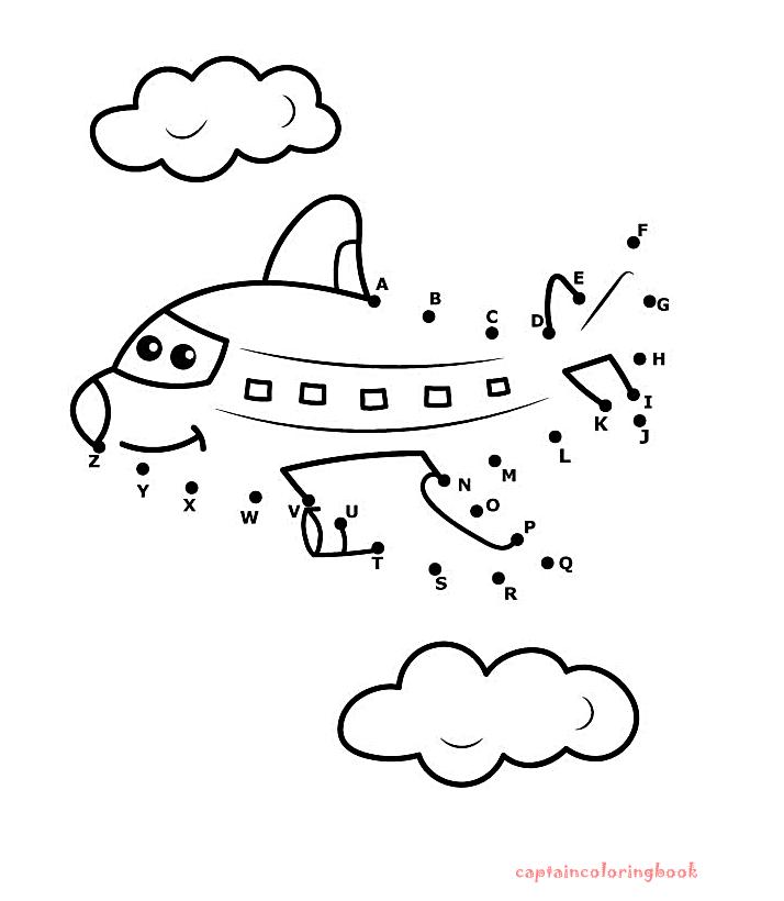 airplane dot to dot - Alphabet Dot To Dot