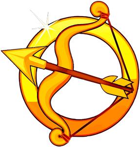 Imagen del arco y la flecha que simbolizan al signo de Sagitario