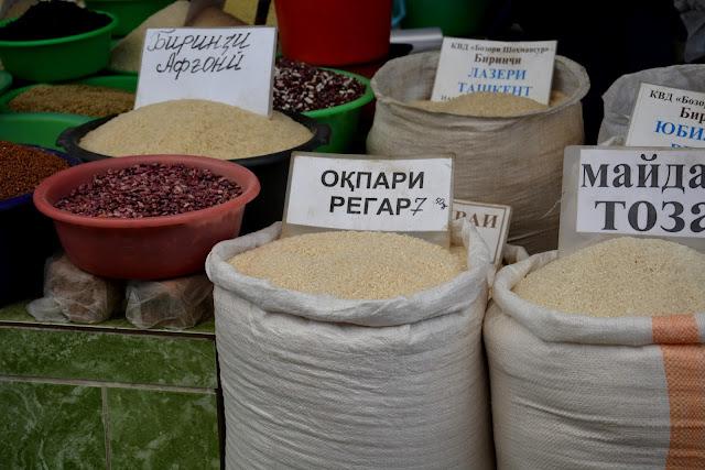 Yöresel pazar-Pirinçler-Duşanbe
