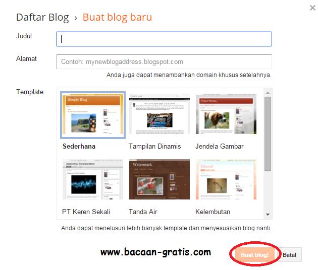 Cara Mudah Membuat Blog