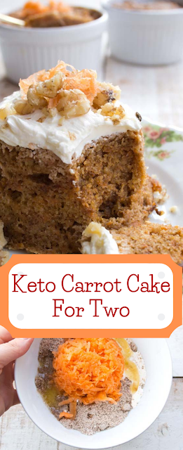 Keto Carrot Cake For Two