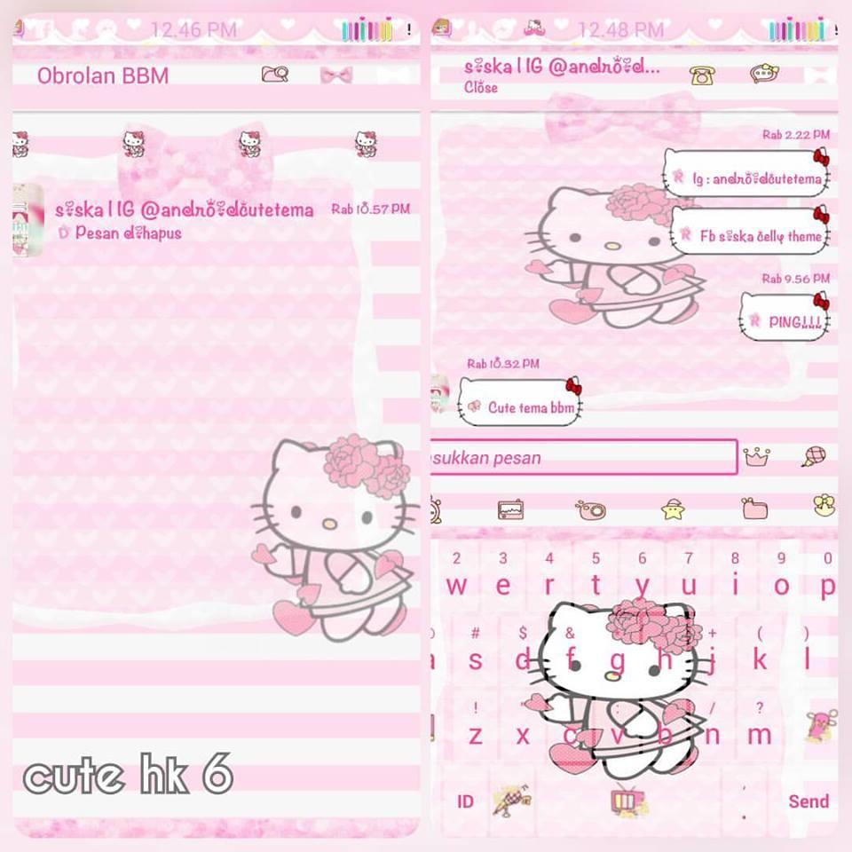 Free Download BBM MOD Hello Kitty Pink Terbaru