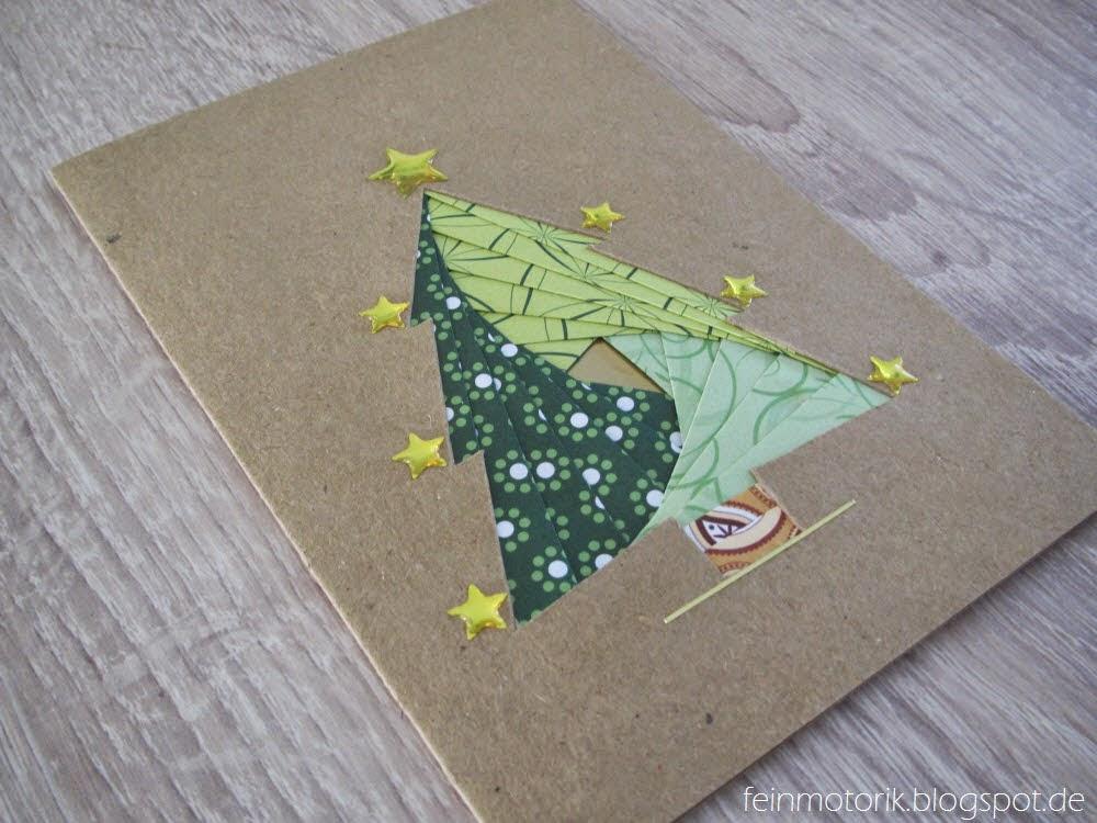 Weihnachtskarten Aldi Süd.Feinmotorik