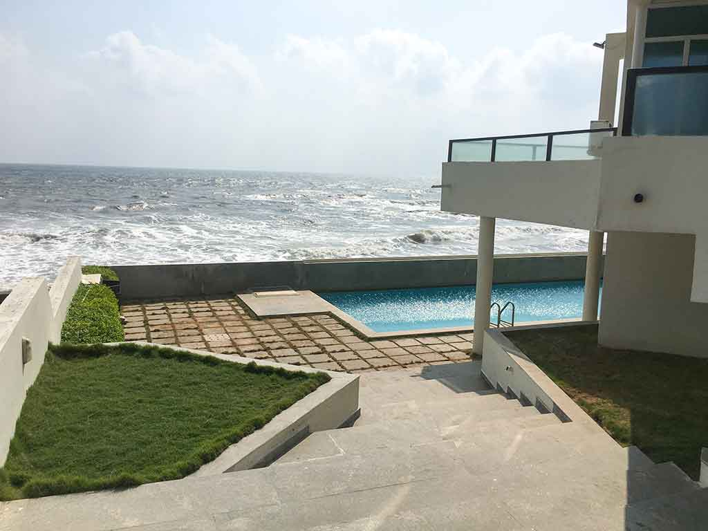 costly beach house in ecr for daily rent