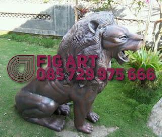 Patung Tembaga Kuningan singa