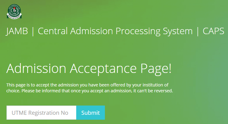 ... how to check admission on jamb caps portal high fashion 60d89 5a1f6 ... cf9cd2d7ebc