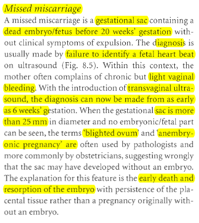 emcque: causes of miscarriage