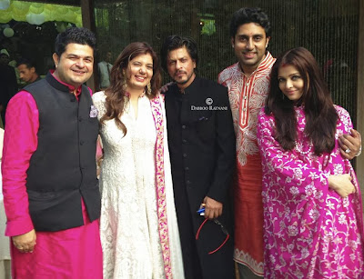 Abhishek, Shah Rukh, Aishwarya and Dabboo Celebrates Diwali photo