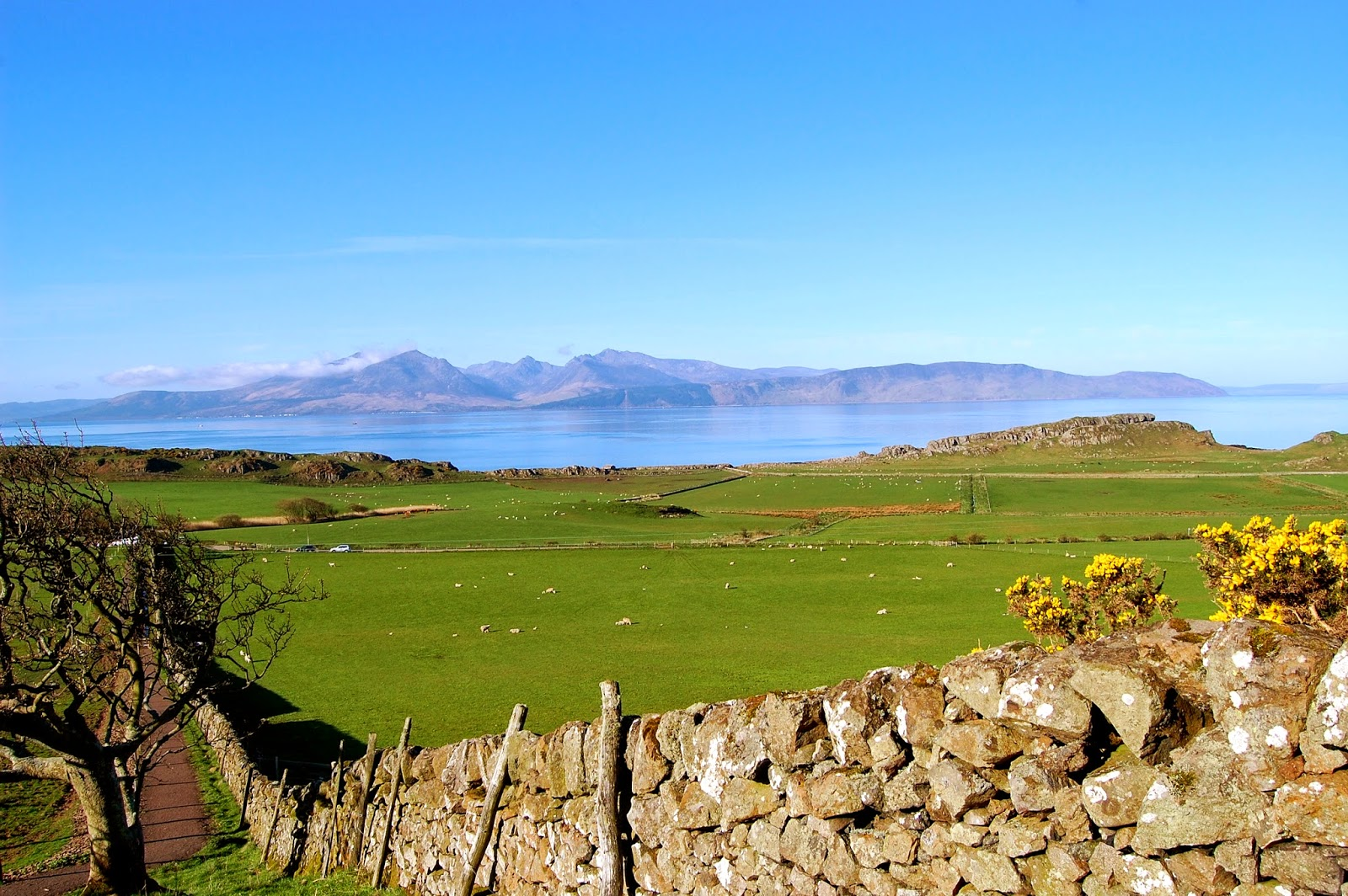 View of Goatfell and Isle of Arran from St. Blane's Church, Isle of Bute