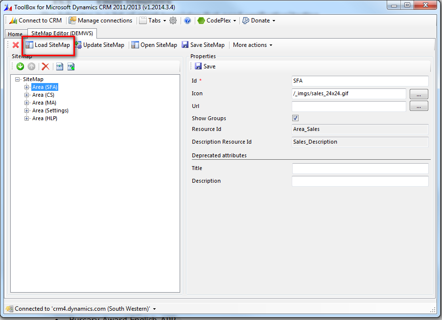 Shane Cunningham: Use XRMToolbox to modify the CRM 2013 Site Map