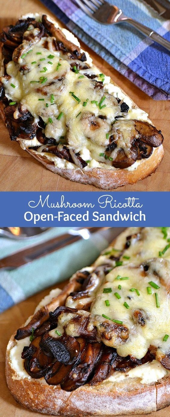 MUSHROOM RICOTTA OPEN-FACED SANDWICH  #masonjar #healthy #recipes #greatist #vegetarian #breakfast #brunch  #legumes #chicken #casseroles #tortilla #homemade #popularrcipes #poultry #delicious #pastafoodrecipes  #Easy #Spices #ChopSuey #Soup #Classic #gingerbread #ginger #cake #classic #baking #dessert #recipes #christmas #dessertrecipes #Vegetarian #Food #Fish #Dessert #Lunch #Dinner #SnackRecipes #BeefRecipes #DrinkRecipes #CookbookRecipesEasy #HealthyRecipes #AllRecipes #ChickenRecipes #CookiesRecipes