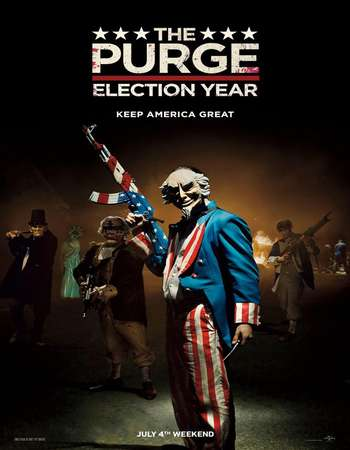 Poster Of The Purge Election Year 2016 English 400MB BRRip 720p ESubs HEVC Free Download Watch Online downloadhub.in
