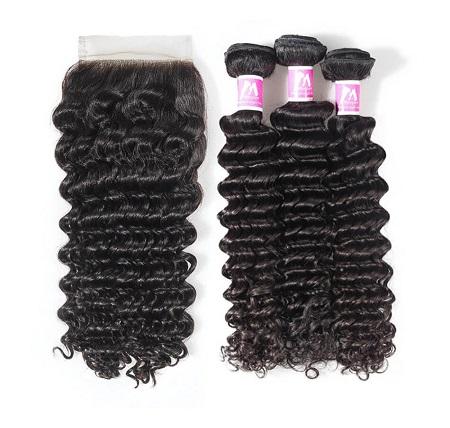 cheap human hair bundles with closure