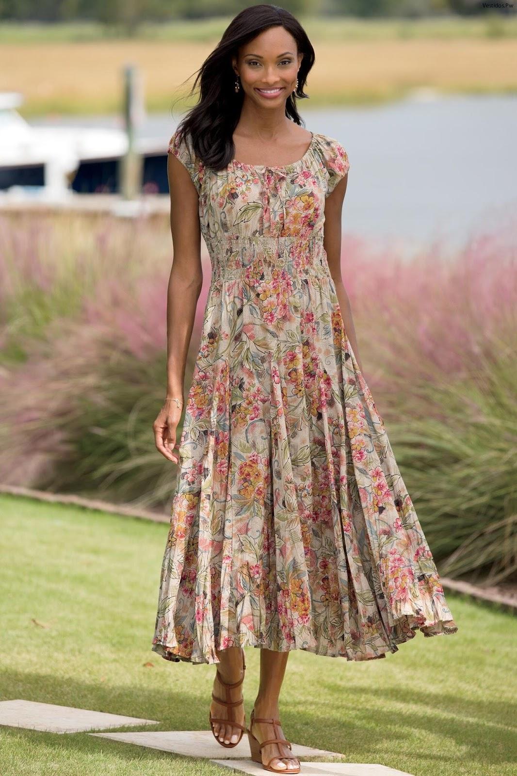 46 【FOTOS】 Ideas de Vestidos Campesinos ¡Viste Muy Cómoda Esta Temporada! |  Vestidos | Moda 2019 - 2020