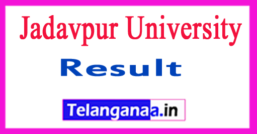Jadavpur University UG PG Exam Results 2018