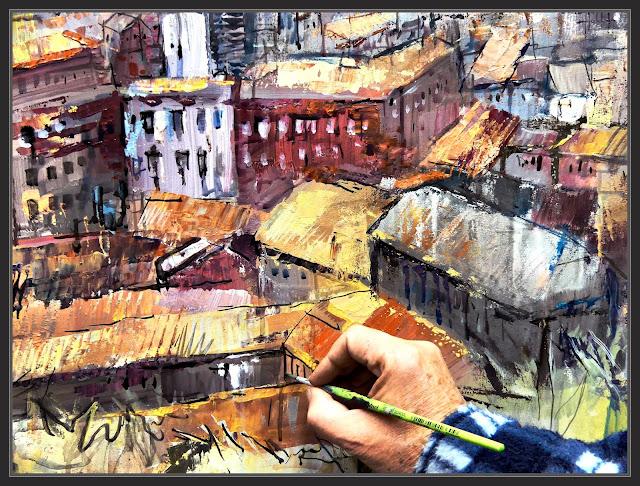PAISATGES-MANRESA-PINTURA-ART-TEULADES-CASTELL-PANORAMIQUES-FOTOS-QUADRES-ARTISTA-PINTOR-ERNEST DESCALS