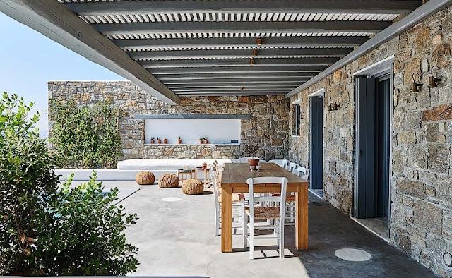 Una villa en las Cícladas chicanddeco