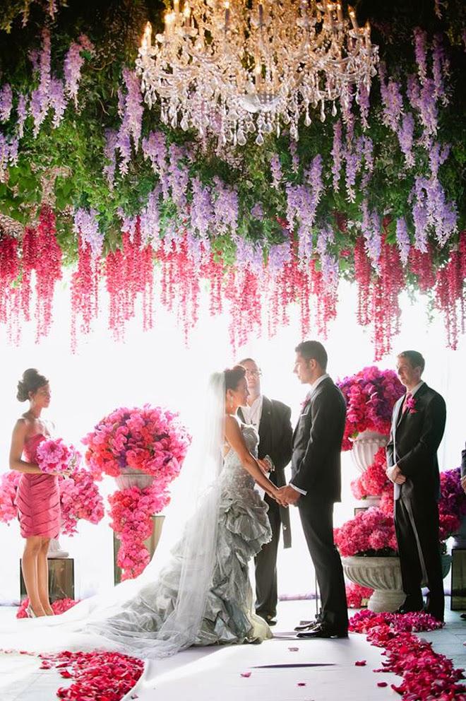 wedding ceremony decorations event aisle decor round bellethemagazine flowers flower para weddings decoration backdrop ceiling bodas hanging floral decoracion libre