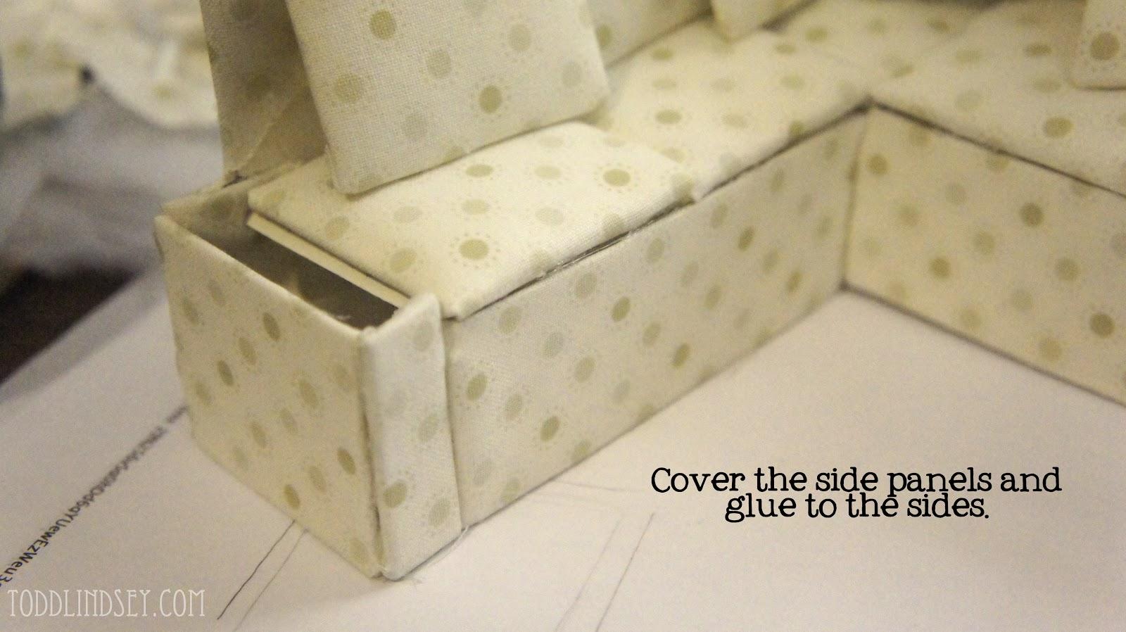 dollhouse miniature sectional sofa best mattress topper for sleeper domer home diy