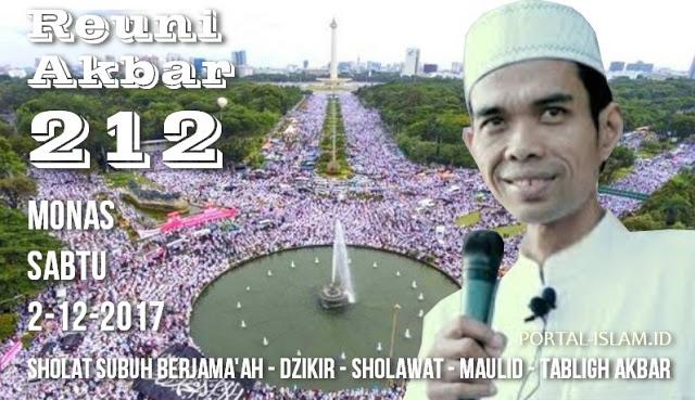 """Allahu Akbar! Ustadz Abdul Somad Akan Ikut Hadir dan Mengisi """"Reuni Akbar 212"""" di Monas"""