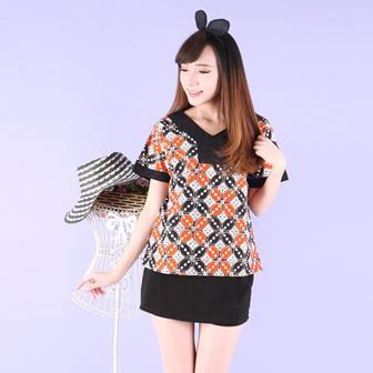 Model Blus Batik Remaja Yang Modis Dan Cantik