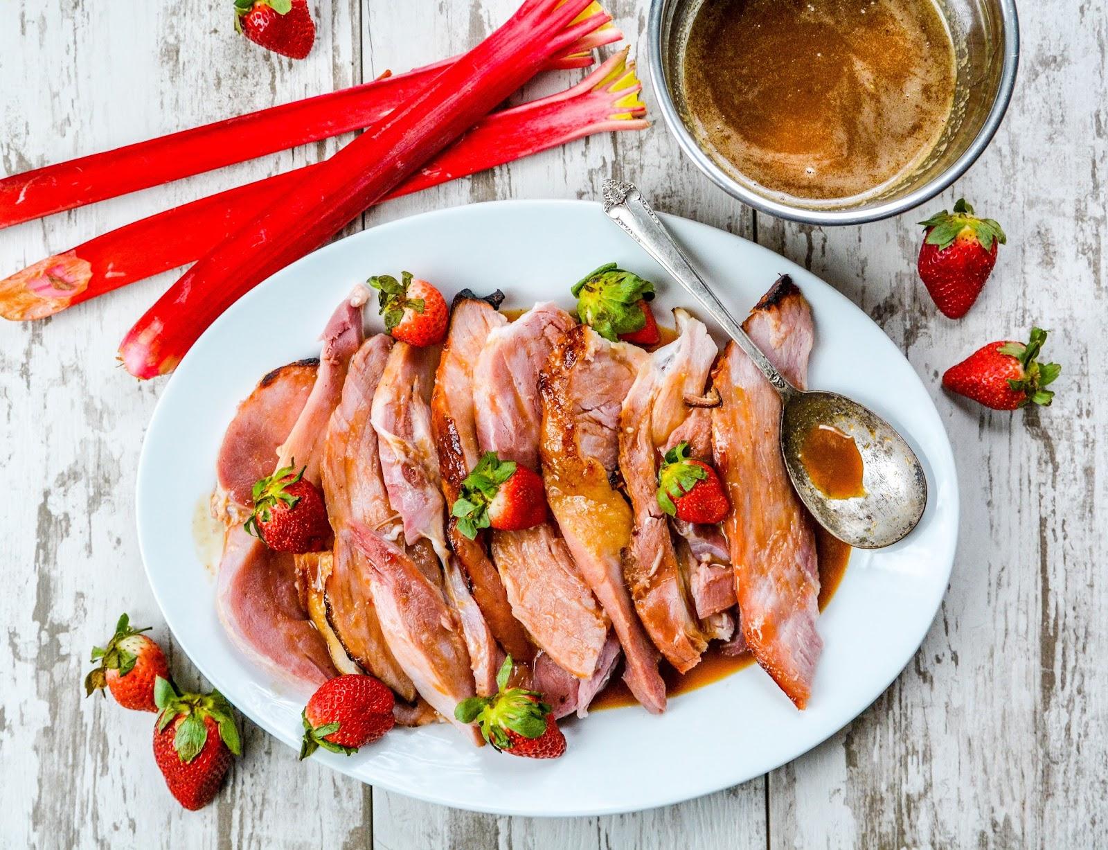 Strawberry Rhubarb Ham Glaze