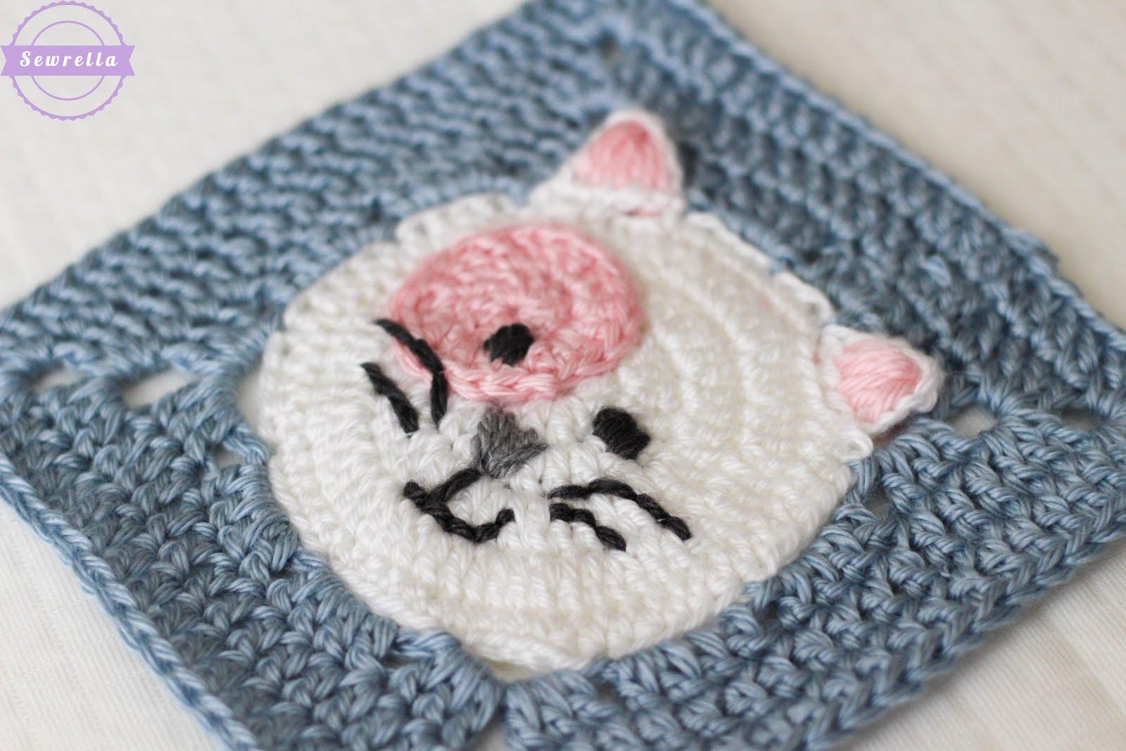 Crochet Pattern Blanket Cat Filet Paw Print Heart Mother's   Etsy   1067x1600