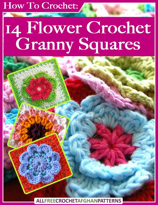 14 Patrones Gratis de Flores en Crochet Granny Squares(14 Flower ...