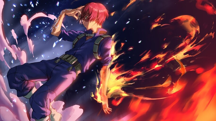 Shoto Todoroki Fire 4k Wallpaper 5 380