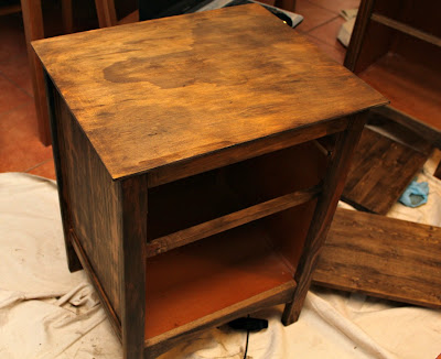Nightstand - cerusing furniture