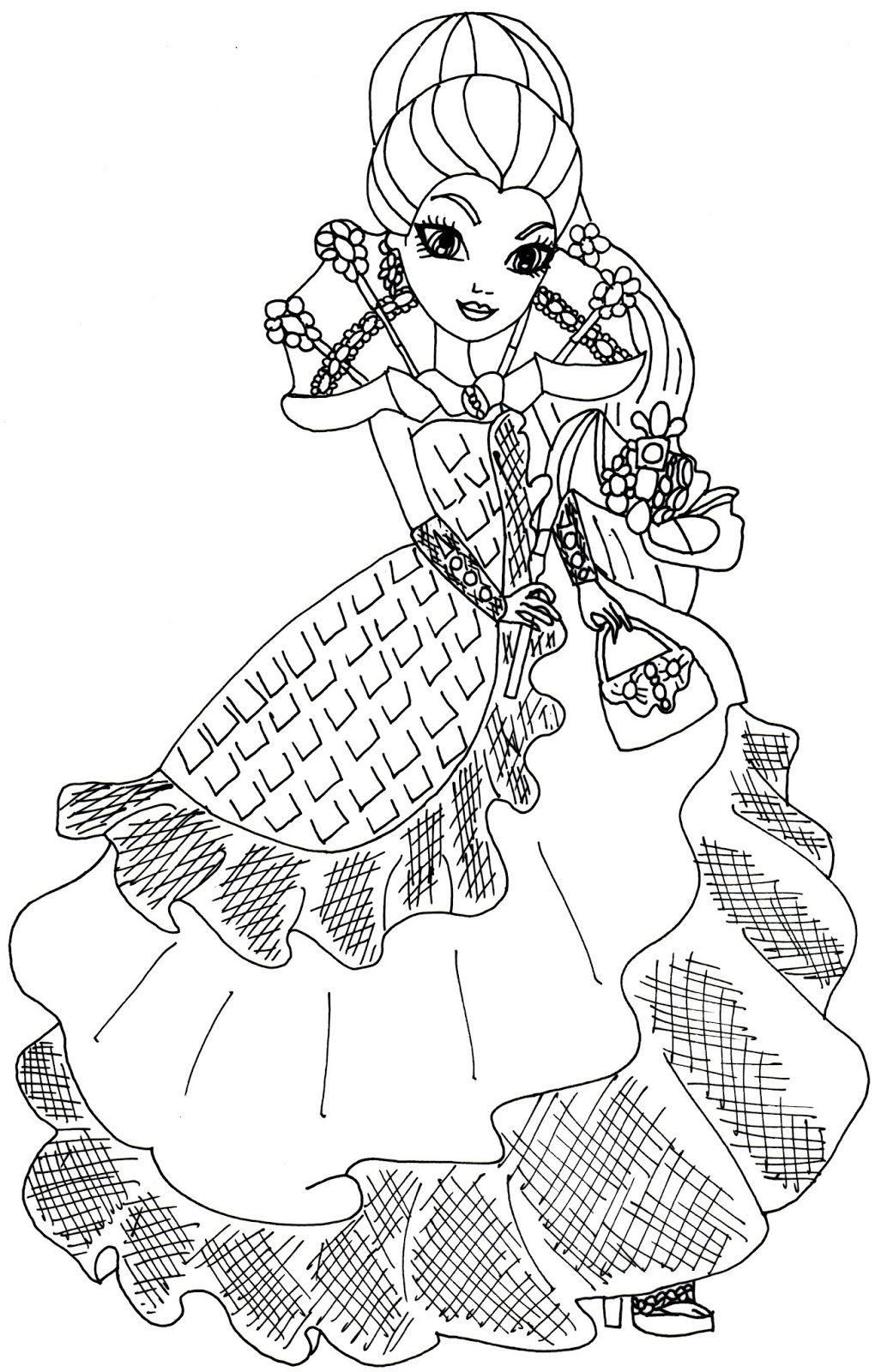 raven queen thronecoming ever after high coloring page