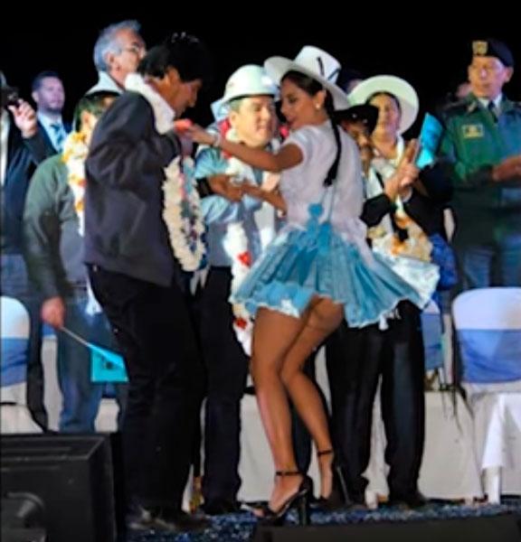 Evo solo bailará con Cholitas con calza para evitar polémica