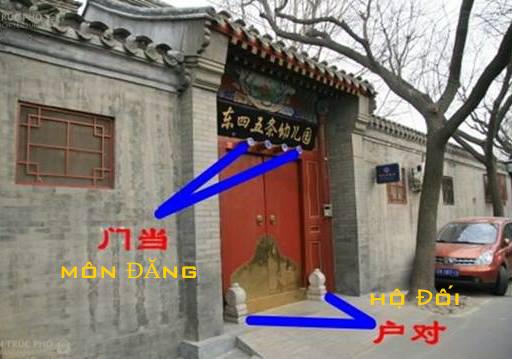 Hình chụp mẫu cổng truyền thống của ngôi nhà của người Hoa