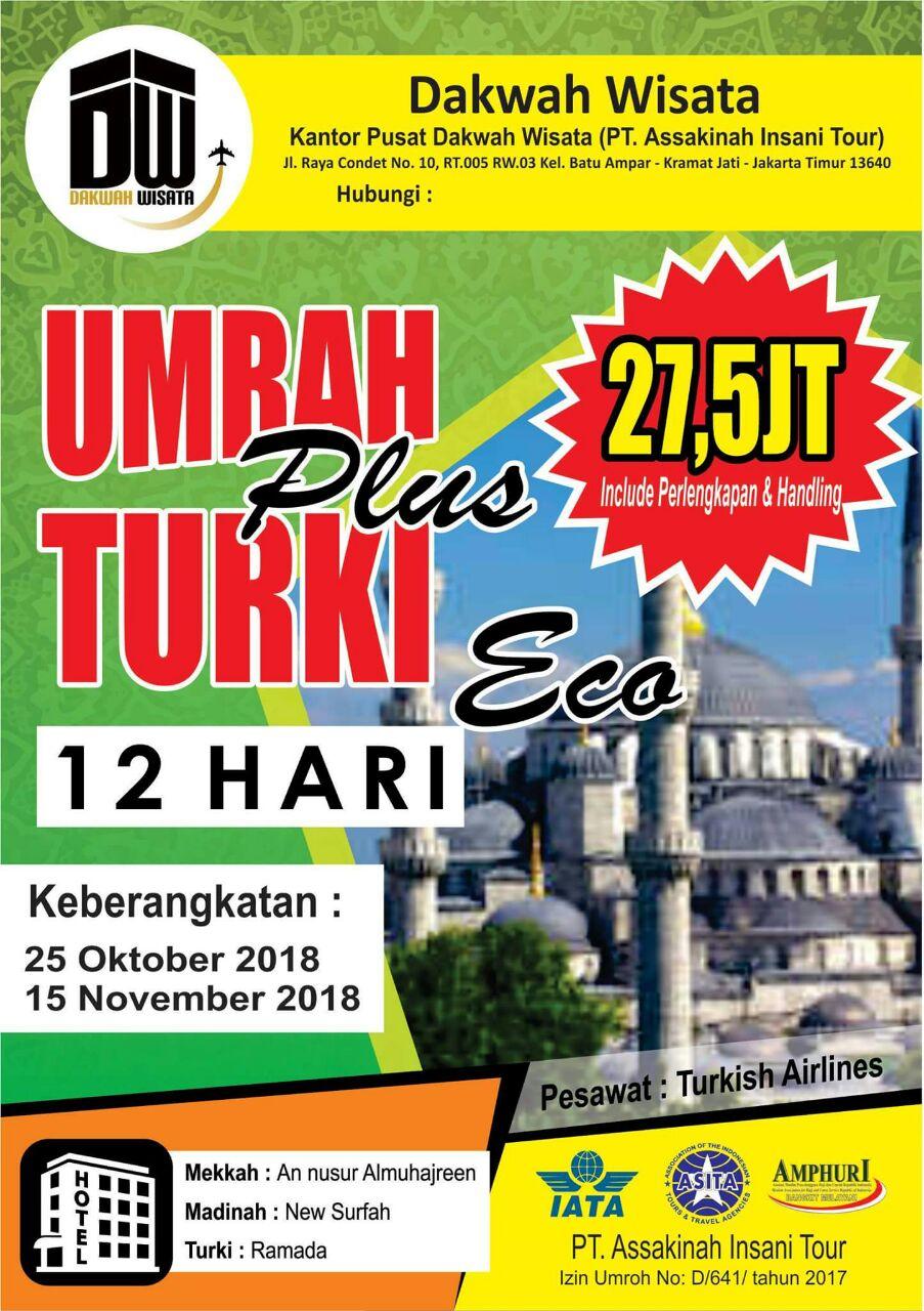 Paket Umroh Plus Turki 2018