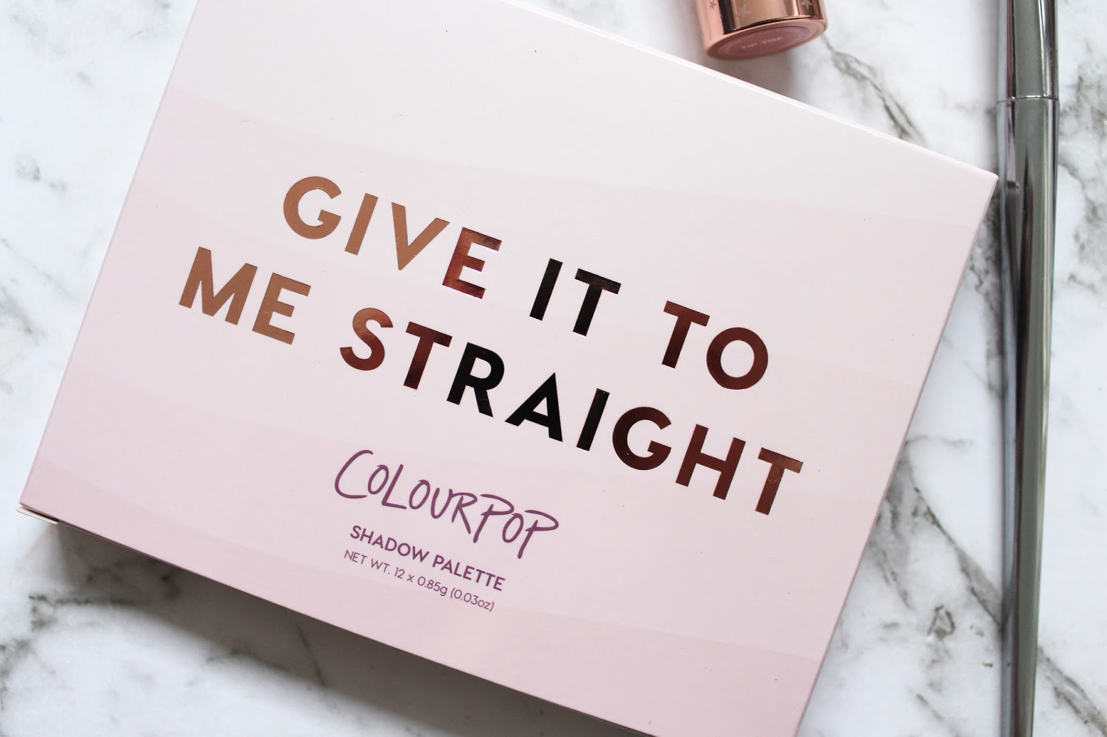 COLOURPOP | Give It To Me Straight Shadow Palette - Review + Swatches - CassandraMyee