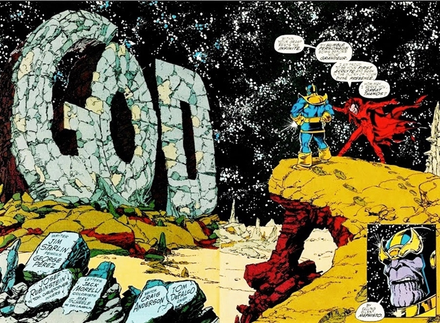 Thanos se convirtió en una deidad en la Saga del Infinito