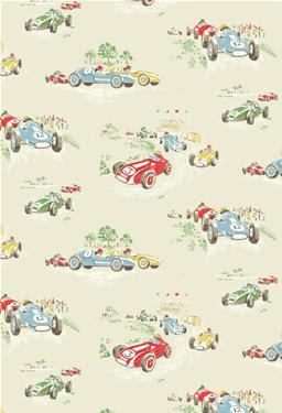 Cath Kidston Vintage Racing Car Wallpaper Wall 2 Wall Bristol