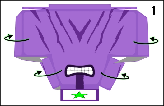 step 1 in making the head of faceless void