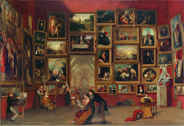 Gallery of the Louvre by Samuel Morse