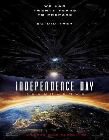 Poster Of Independence Day Resurgence 2016 English 700MB HDTS x264 Free Download Watch Online Worldfree4u