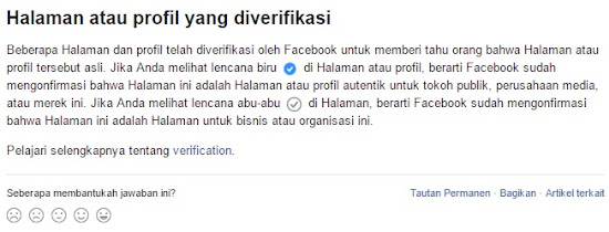 Cara Verifikasi Fanpage Facebook dan Mendapatkan Badge / Lencana Hitam