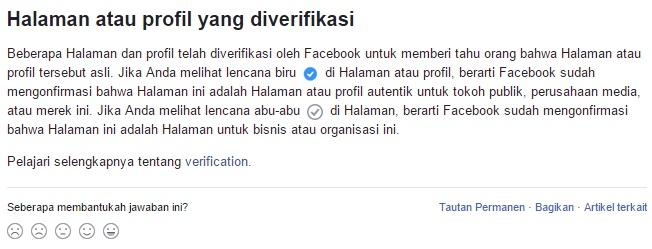 Cara Verifikasi Fanspage Facebook dan Mendapatkan Badge Hitam