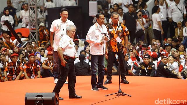 Di Depan Jokowi, Ketua Pemuda Pancasila Puji Prabowo Pintar